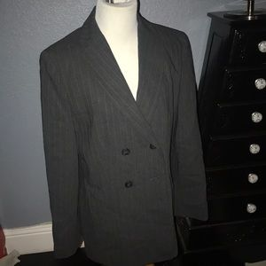 Women's Ann Taylor 2 piece  gray  suit pinstripes